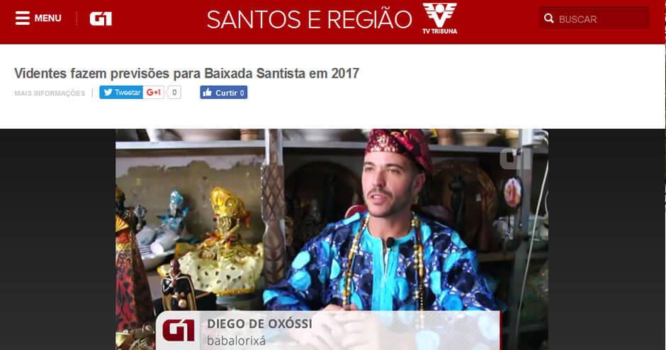 Entrevista no G1: Previsões 2017 para Santos e Baixada Santista