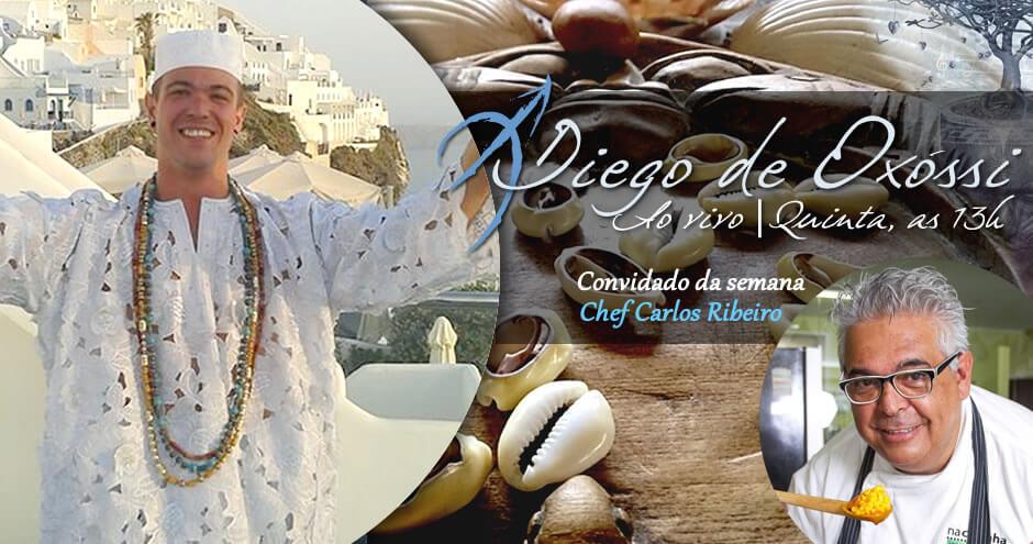 Palavras de Axé | Arole Cultural: Odus de Nascimento e Jogo de Búzios | Clique e assista ao programa Diego de Oxóssi do dia 12/07. O tema do programa é: Comida de Santo, com o chef de cozinha Carlos Ribeiro!